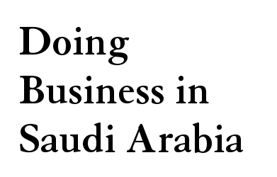 doing business in saudi arabia pdf