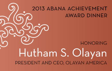 ABANA Achievement Award Dinner 2013