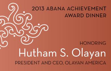 ABANA Achievement Award Dinner 2013